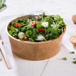 Mehrwegschale Häppy Bowl® mit Salat gefüllt