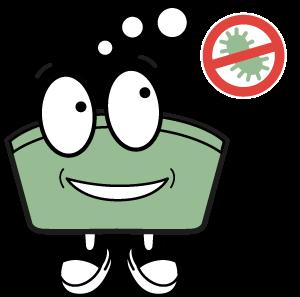 Icon Antibakteriell wirksam